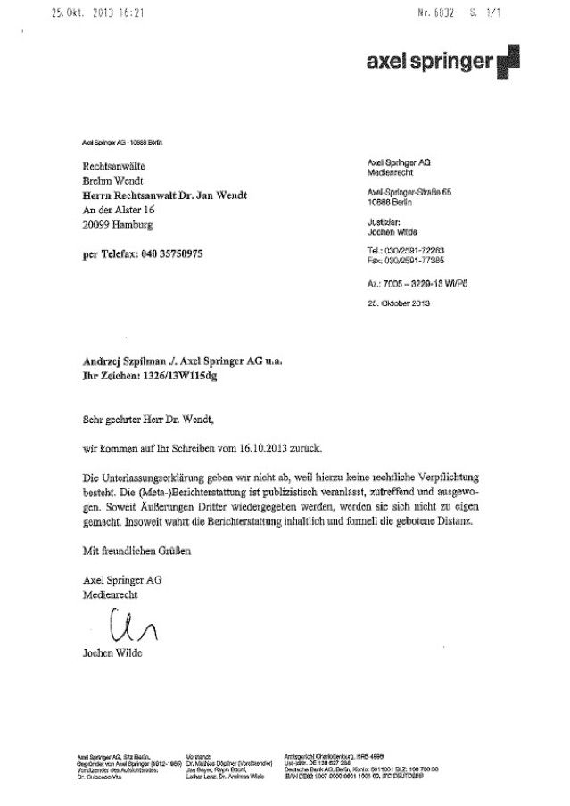 Brief Nach Zwei Tagen Nicht Da : Diese attacken halte ich für antisemitisch jetzt werde